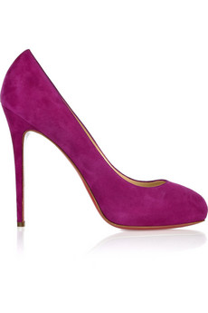 Declic 120 suede pumps-Louboutin Christian-pink stiletto