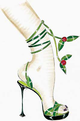 manolo-blahnik-illustration-green cheries