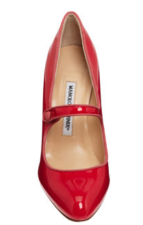 Manolo Blahnik Campy Mary Jane REd