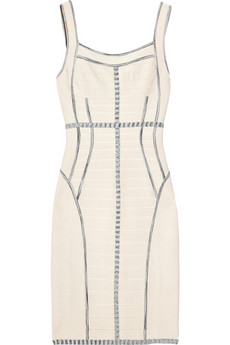 Hervé Léger's off-white bandage dress