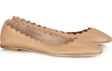 Chloé nude leather ballerina flats