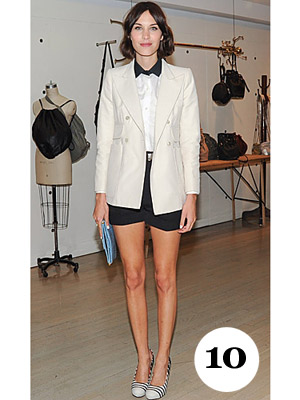 Alexa Chung New York fashion Week 2011