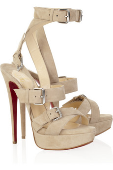 Christian Louboutin's nude suede platform sandals