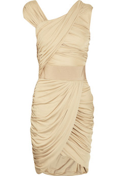 Giambattista Valli's draped champagne jersey dress
