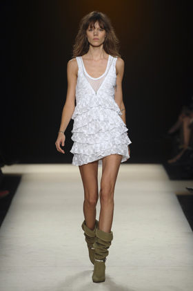 Isabelle Marant Dress Slouchy boots Spring Summer 2011