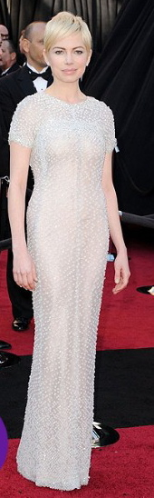 MICHELLE-WILLIAMS Oscars Nude dress
