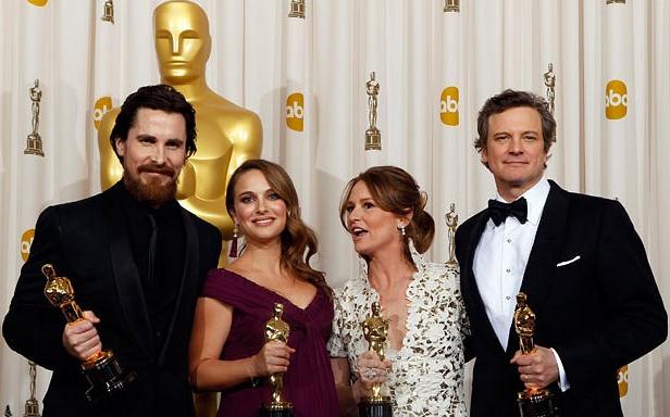 Oscar Winners Christian Bale,Natalie Portman, Melissa Leo,Colin Firth 83rd Academy Awards