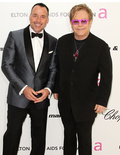 Sir Elton John and David Furnish Oscars 2011