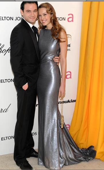 Petra Nemcova and her fiance Jamie Belman Oscars 2011