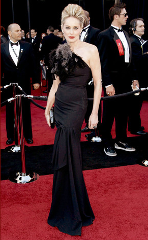 Sharon Stone Oscar 2011 Black Dress