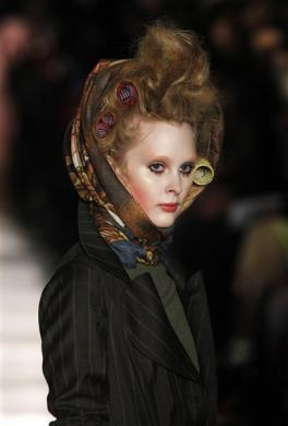 Crazy Hair Style Rollers, Vivienne Westwood Fall/Winter 2011 collection at London Fashion Week