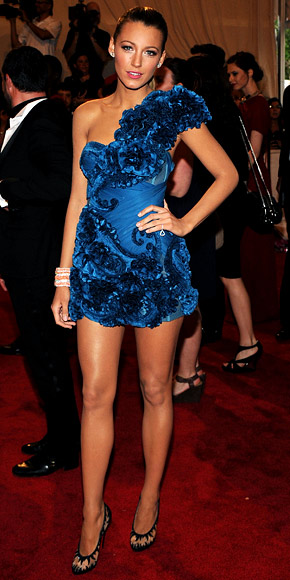 Blake Lively Blue Mini dress shoes