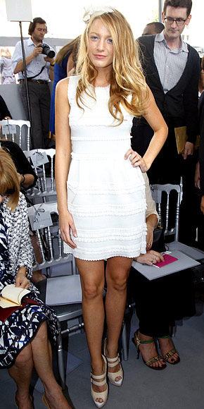 Blake Lively White Dress and Shoes