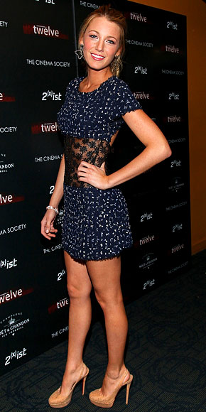 Blake Lively chanel Dress Louboutin shoes