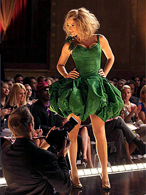 Blake Lively Green dress by Eric Daman