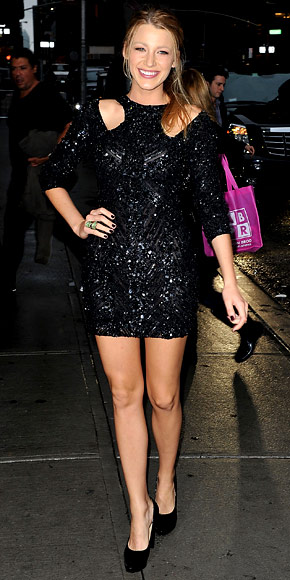 Blake Lively Mini Black sequin dress