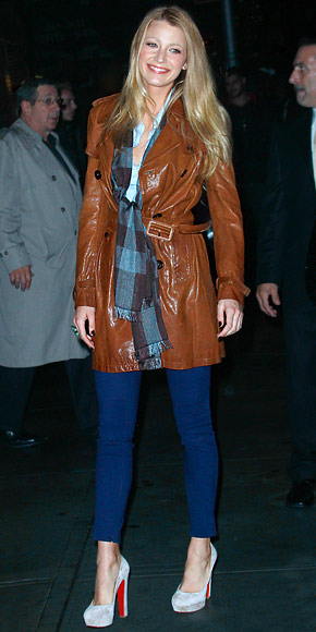 Blake Lively Street Style shoes and coat