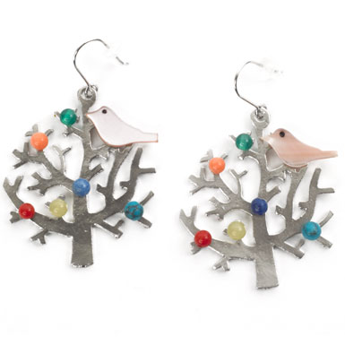 V&A Shop Earrings Tree and Bird