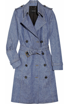 Derek Lam's light-blue stretch-denim trench coat