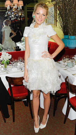 Blake Lively Chanel White dress