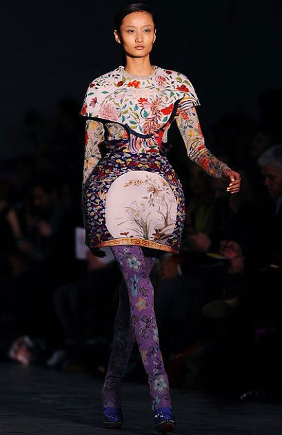 Mary Katrantzou Dress Runway  Autumn- Winter  2011-2012