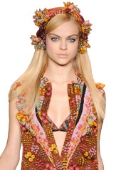 Anna Sui Camel Color Flower Dress