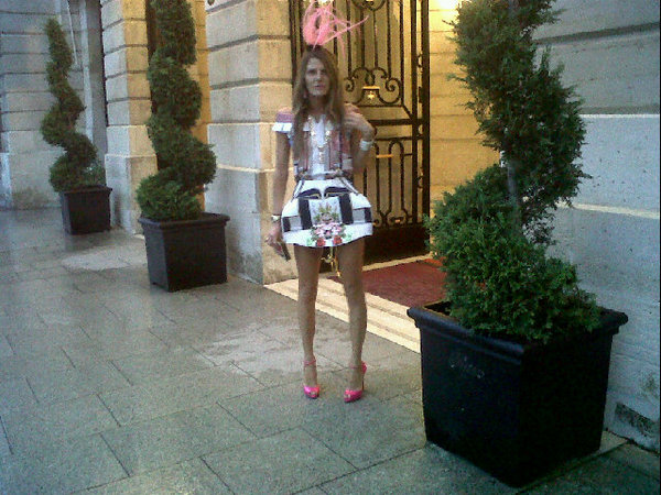 Anna Dello Russo Wearing MARY KATRANTZOU Paris Fashion Week