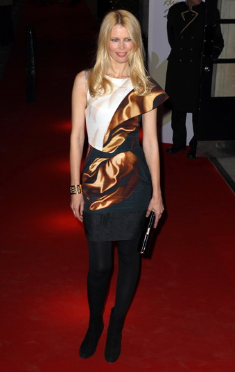 Claudia Schiffer  wearing an 'Mary Katrantzou' design
