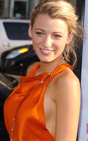 Blake Lively Orange Dress, Make up