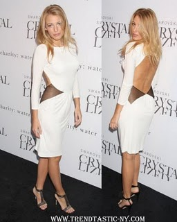 Blake Lively White Dress Cavalli