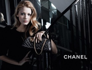 Blake Lively Chanel handbag advertisement