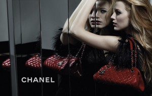 Blake Lively for her Chanel handbag advertisement