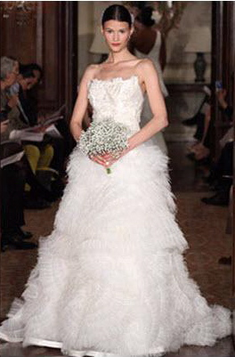 Carolina Herrera, bridal Ruffle Gown,2011