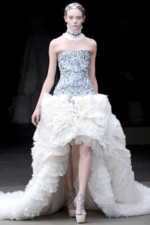 Wedding dress Alexander mcQueen, 2011