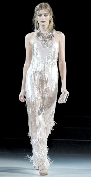 Wedding Dress, Shimmering, Giorgio Armani, 2011