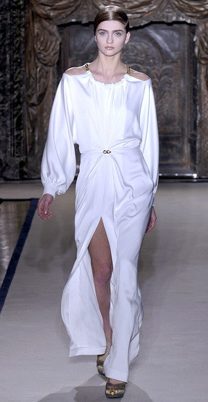 Wedding dress, Yves Saint Laurant, Minimal Style
