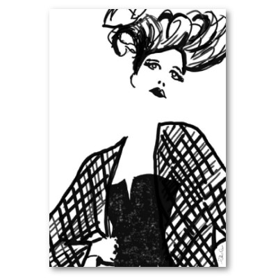 High fashion drawing hair and makeup