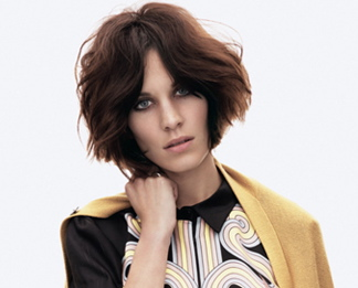 Alexa Chung, New Bob haircut and new hair color, Vogue June 2011
