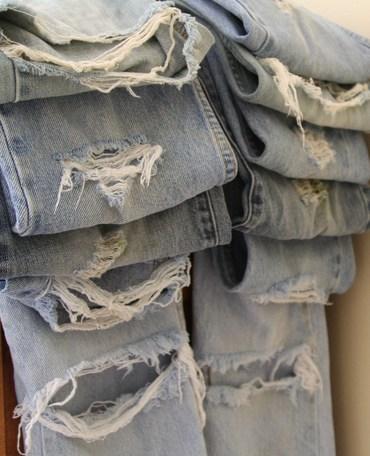 Destressed Jeans