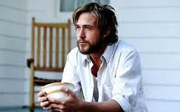 Ryan Gosling with beard and long hair