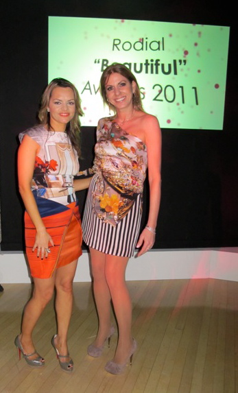 Maria Hatzistefanis and Nina Papaioannou wearing Mary Katrantzou