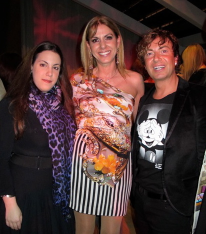 Mary Katrantzou, Nina Papaioannou and Julien Macdonald