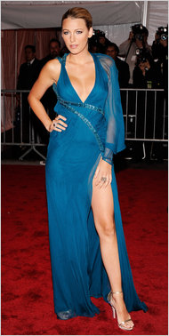 Blake Lively Blue dress Shoes