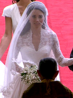 Kate Middleton νυφικό Alexander McQueen
