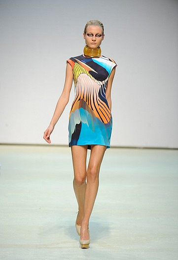 Mary Katrantzou Turquoise Dress 2011 greek designer