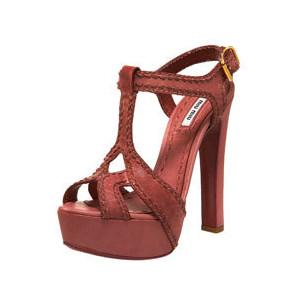 Miu Miu Platform Sandal at Bergdorf Goodman