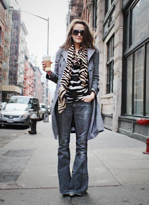 Miss Sixty bellbottoms, street style