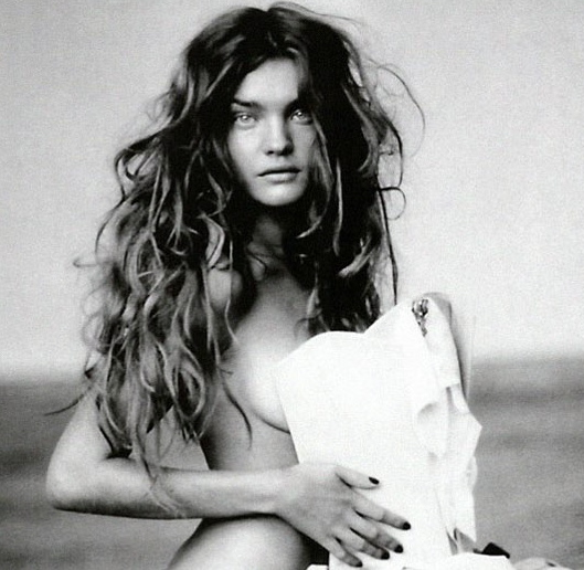 Natalia Vodianova photographed by Paolo Roversi, naked long hair