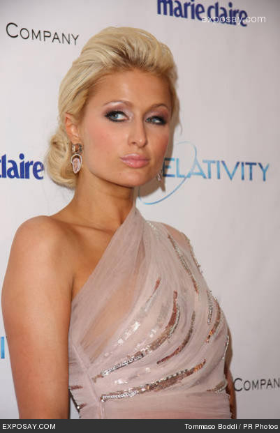 Paris Hilton hair updo