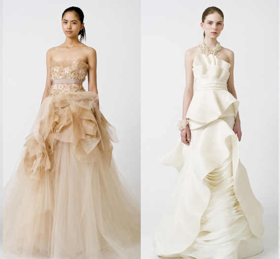 Wera Wang, Romantic wedding dresses
